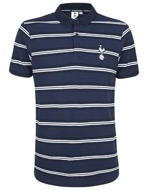 Spurs Mens Double Stripe Polo