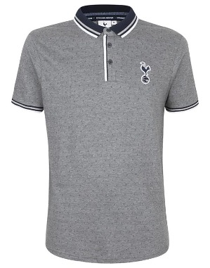 Spurs Mens Criss Cross Pattern Polo