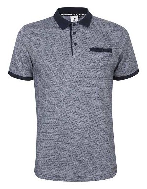 Spurs Mens Geo Pattern Polo