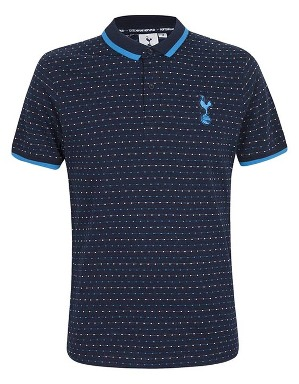 Spurs Mens Square Pattern Detail Polo