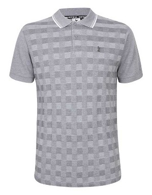 Spurs Mens Square Jacquard Polo