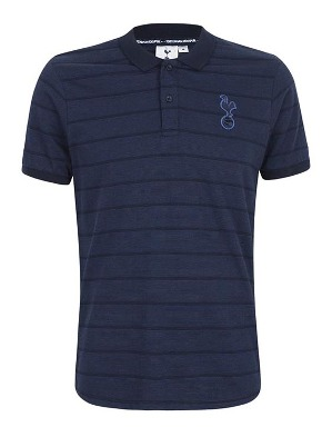 Spurs Mens Birdseye Stripe Polo