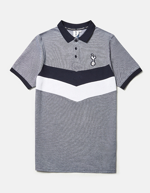 Spurs Mens Chevron Panel Polo