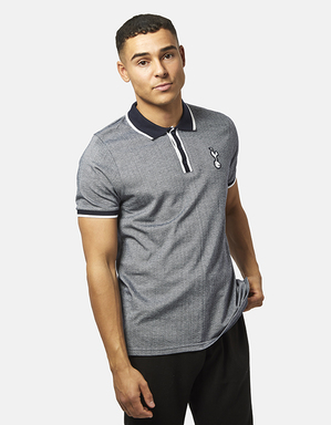 Spurs Mens Criss Cross Stitch Polo