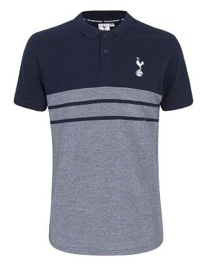 Spurs Mens Plain Yoke And Stripe Polo