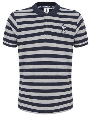Spurs Mens Stripe Dot Detail Polo