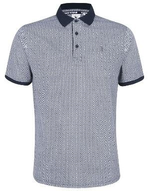 Spurs Mens Zig Zag Pattern Polo