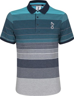 Spurs Mens Multi Stripe Polo