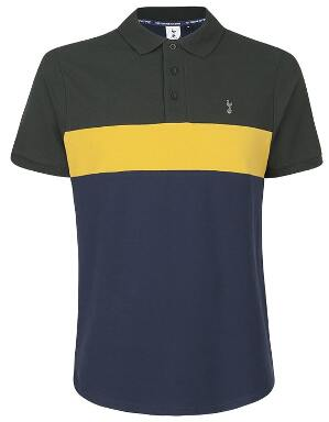 Spurs Mens Three Colour Polo