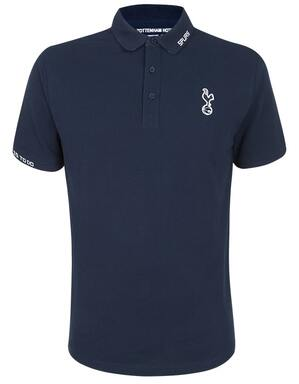 Spurs Mens Jacquared Rib Detail Polo