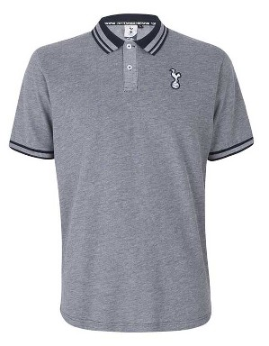 Spurs Mens Stripe Collar Polo