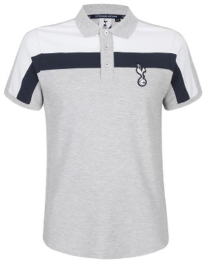 Spurs Mens Colour Block Yoke Polo