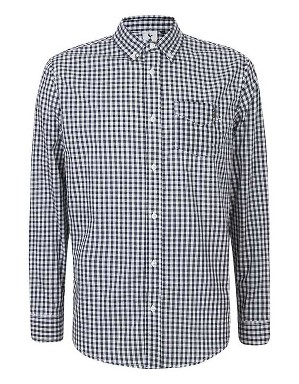 Spurs Mens L/S Small Check Shirt