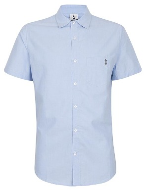 Spurs Mens Short Sleeve Chambray Shirt