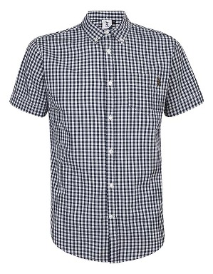 Spurs Mens Small Check S/S Shirt