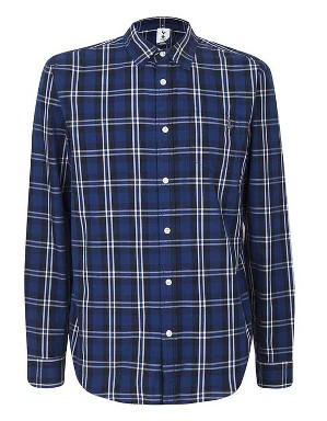 Spurs Mens L/S Large Check Shirt