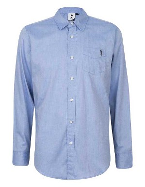 Spurs Mens L/S Chambray Shirt