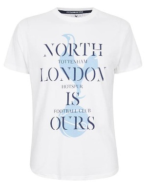 Spurs Mens North London Is Ours White T-Shirt