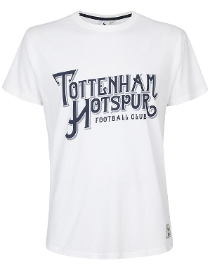Spurs Mens Tottenham Hotspur Writing T-shirt
