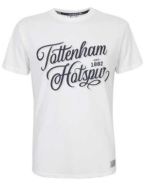 Spurs Mens Tottenham Writing T-Shirt