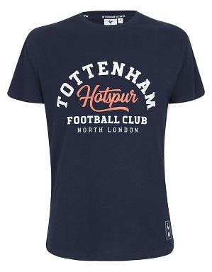 Spurs Mens Tottenham Two Colour Print T-Shirt