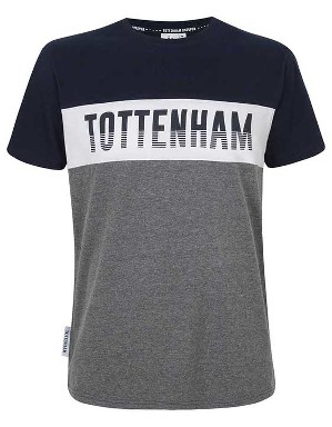 Spurs Mens Colour Block Tottenham T-Shirt