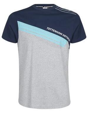 Spurs Mens Mixed Panel Colour Block T-Shirt