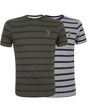 Spurs Mens Salt and Pepper Stripe T-Shirt