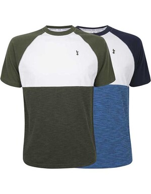 Spurs Mens Layered Colour Block T-Shirt