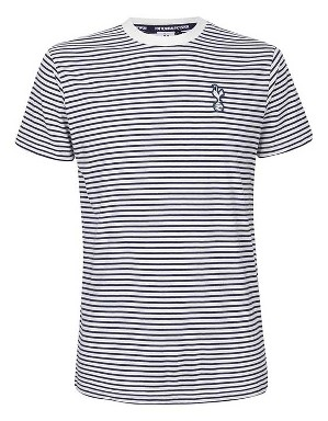 Spurs Mens Stripe Crest T-Shirt