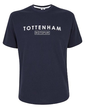 Spurs Mens Tottenham Hotspur Block Printed T-shirt