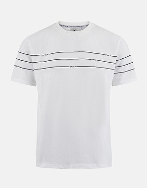 Mens Stripe and Word Mix Tee