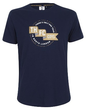 Spurs Adult THFC Ribbon Print T-Shirt