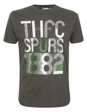 Spurs Mens THFC Outline Print T-Shirt