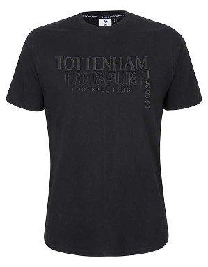 Spurs Mens Tonal Rubber Print T-Shirt
