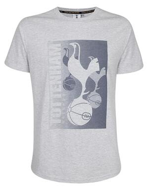 Spurs Mens Multiple Crest Print T-Shirt