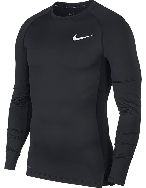 Nike Adult Black Pro L/S Baselayer Top