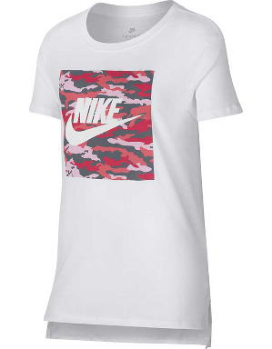 Nike Girls NSW Camo T-Shirt