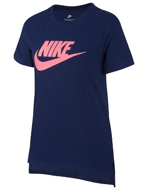 Nike Girls Sportswear Navy Essential T-Shirt