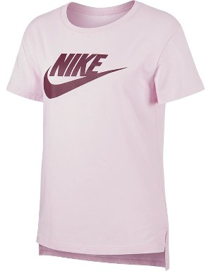 Nike Girls Pink Sportswear Essential T-shirt