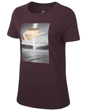 Nike Ladies Air Photo Metalic T-Shirt