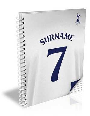 Spurs Personalised A4 Shirt Notebook