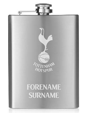 Spurs 8oz Personalised Hipflask