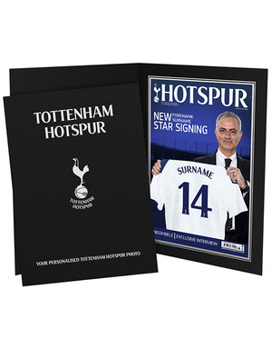 Personalised New Signing Magazine in Folder