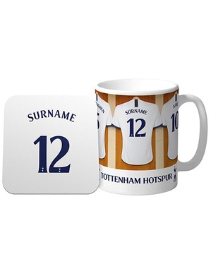 Spurs Personalised Shirt Mug and Coaster