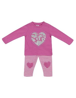 Spurs Baby Girl T-Shirt and Legging Heart Set
