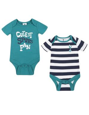 Spurs 2 Pack Baby Boys Bodysuits