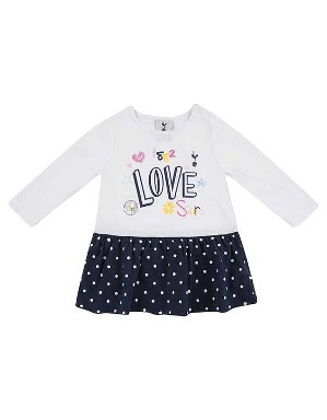 Spurs Baby Girl Printed Spot L/S Dress