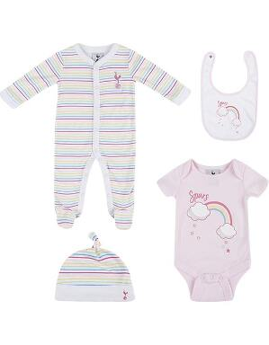 Spurs Baby Girl Rainbow Print Gift Set