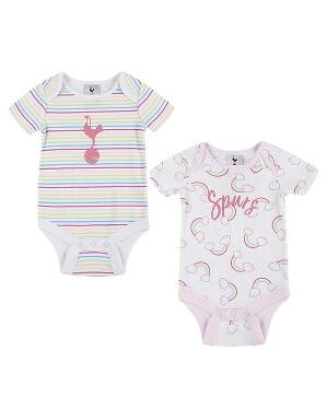 Spurs Baby Girl Raibow Print Bodysuits